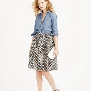 J. Crew Punched-out eyelet skirt